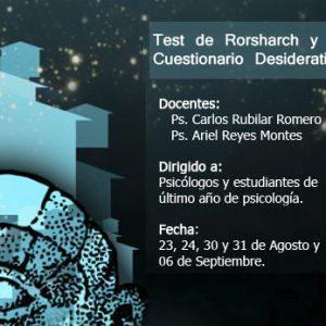 Test de Rorschach y Cuestionario Desiderativo