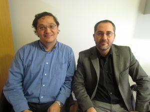José Víctor Orón junto a Francisco Ceric