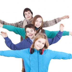 25563465 - group of happy young boys over white background