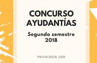 Participa del Concurso de Ayudantes (estudiantes y Alumni) - Santiago 2018/2 semestre