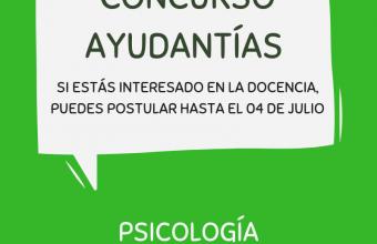 Concurso Ayudantías Psicología UDD Santiago- Segundo Semestre 2019