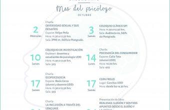Participa de las actividades del Mes del Psicólogo 2019 en Santiago