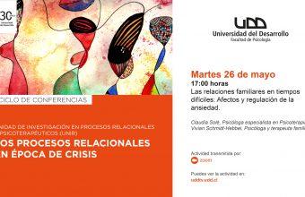 [VIDEO] Conferencia UNIR: Las relaciones familiares en tiempos difíciles: Afectos y regulación de la ansiedad